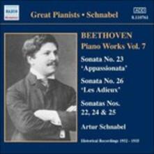 Opere per pianoforte vol.7 - CD Audio di Ludwig van Beethoven,Artur Schnabel