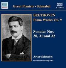 Opere per pianoforte vol.9 - CD Audio di Ludwig van Beethoven,Artur Schnabel