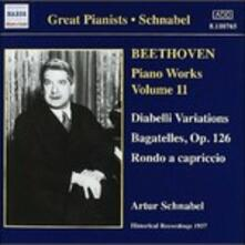 Opere per pianoforte vol.11 - CD Audio di Ludwig van Beethoven,Artur Schnabel