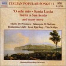Canti popolari italiani vol.1 - CD Audio di Mario Del Monaco,Giuseppe Di Stefano,Beniamino Gigli,Tito Schipa,Jussi Björling
