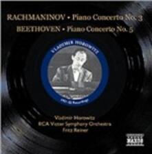Concerto per pianoforte n.3 / Concerto per pianoforte n.5 - CD Audio di Ludwig van Beethoven,Sergej Vasilevich Rachmaninov,Vladimir Horowitz,Fritz Reiner,RCA Victor Symphony Orchestra