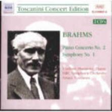 Sinfonia n.1 - Concerto per pianoforte n.2 - CD Audio di Johannes Brahms,Vladimir Horowitz,Arturo Toscanini,NBC Symphony Orchestra