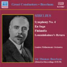 Sinfonia n.4 - En Saga - Finlandia - Lemminkäinen Suite - The Bard - CD Audio di Jean Sibelius,Sir Thomas Beecham,London Philharmonic Orchestra