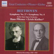 Sinfonie n.2, n.4 - CD Audio di Ludwig van Beethoven,Hans Pfitzner,Erich Kleiber