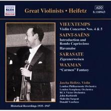 Great Violinists - CD Audio di Camille Saint-Saëns,Henri Vieuxtemps,Pablo de Sarasate,Franz Waxman,Jascha Heifetz