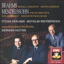 Concerti per violino - CD Audio di Johannes Brahms,Felix Mendelssohn-Bartholdy,Jozsef Szigeti
