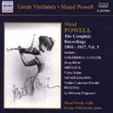 Integrale delle registrazioni vol.3 - CD Audio di Maud Powell