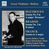 CD Sonata per violino n.9 / Sonata per violino n.3 / Sonata per violino in La minore Ludwig van Beethoven Johannes Brahms César Franck