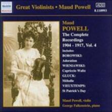 Integrale delle registrazioni vol.4 - CD Audio di Maud Powell