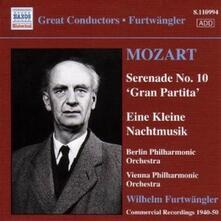 Eine Kleine Nachtmusik K525 - Gran Partita K361 / Ouverture Alceste - CD Audio di Christoph Willibald Gluck,Wolfgang Amadeus Mozart,Wilhelm Furtwängler,Berliner Philharmoniker,Wiener Philharmoniker