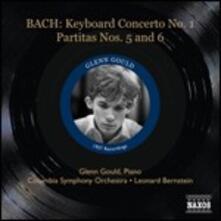 Concerto per pianoforte BWV1052 - Partite n.5, n.6 - CD Audio di Johann Sebastian Bach,Leonard Bernstein,Glenn Gould,Columbia Symphony Orchestra