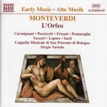 L'Orfeo - CD Audio di Claudio Monteverdi,Cappella Musicale di San Petronio di Bologna,Sergio Vartolo