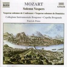 Vespri Solenni - CD Audio di Wolfgang Amadeus Mozart