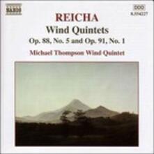 Quintetti per strumenti a fiato op.88 n.5, op.91 n.1 - CD Audio di Michael Thompson Wind Quintett,Antonin Reicha