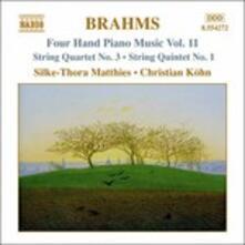 Opere per pianoforte a 4 mani vol.11 - CD Audio di Johannes Brahms
