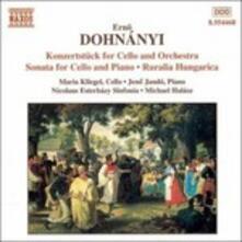 Sonata X Vlc, Konzertstuck X Vlc e Orchestra, Ruralia Hungarica - CD Audio di Erno Dohnanyi,Michael Halasz