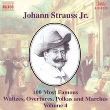 100 of his Best Compositions vol.4 - CD Audio di Johann Strauss