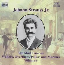 100 of his Best Compositions vol.6 - CD Audio di Johann Strauss