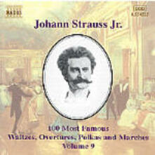 100 of his Best Compositions vol.9 - CD Audio di Johann Strauss