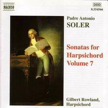 Sonate per clavicembalo vol.7 - CD Audio di Antonio Soler,Gilbert Rowland