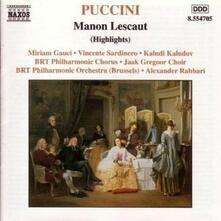 Manon Lescaut (Selezione) - CD Audio di Giacomo Puccini