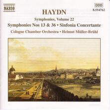 Sinfonie n.13, n.36 - Sinfonia concertante - CD Audio di Franz Joseph Haydn