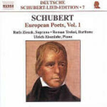 Deutsche Schubert Lied Edition vol.7: Lieder su testi di poeti europei vol.1 - CD Audio di Franz Schubert