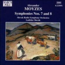 """Sinfonia n.7 Op.50, n.8 """"op.64 """"21.08.1968"""" (Digipack) - CD Audio di Ladislav Slovak,Alexander Moyzes"""