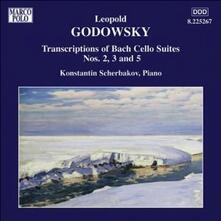 Trascrizioni per pianoforte delle suites per violoncello n.2, n.3, n.5 di J.S. Bach - CD Audio di Konstantin Scherbakov,Leopold Godowsky