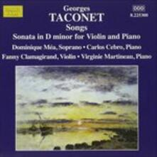 Liriche. 14 Mélodies - Sonata per Violino - CD Audio di Georges Taconet