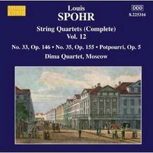Quartetti per archi vol.12 - CD Audio di Louis Spohr