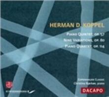 Quintetto per Pianoforte, Op.57; Nove Variazioni, Op.80.. - CD Audio di Herman Koppel