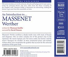 Werther.Opera Explained - CD Audio di Jules Massenet