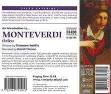 Orfeo.opera Explained - CD Audio di Claudio Monteverdi