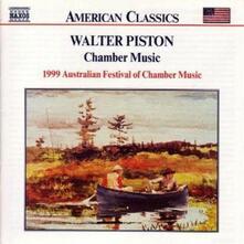 Quintetto con flauto - Quintetto con pianoforte - Quartetto con pianoforte - Sestetto per archi - CD Audio di Walter Piston