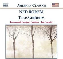 Sinfonie n.1, n.2, n.3 - CD Audio di Ned Rorem,Bournemouth Symphony Orchestra,José Serebrier