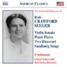 A Continuum Portrait - CD Audio di Ruth Crawford Seeger