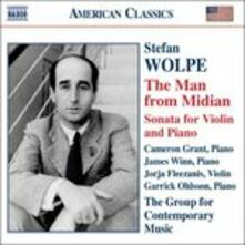 The Man from Midian, Sonata per Violino - CD Audio di Stefan Wolpe