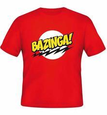 T-Shirt unisex The Big Bang Theory. Bazinga Red