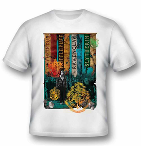 Idee regalo T-Shirt unisex Harry Potter. Houses 2BNerd