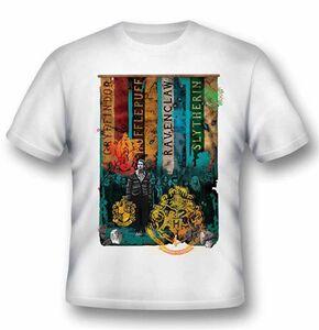 Idee regalo T-Shirt unisex Harry Potter. Houses 2BNerd