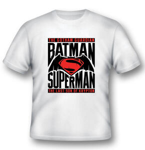 T-Shirt unisex Batman V Superman. Logo