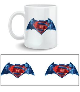 Idee regalo Tazza Batman V Superman. Logo 2BNerd