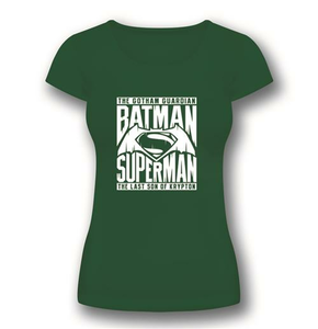 Idee regalo T-Shirt donna Batman V Superman. Symbol 2BNerd