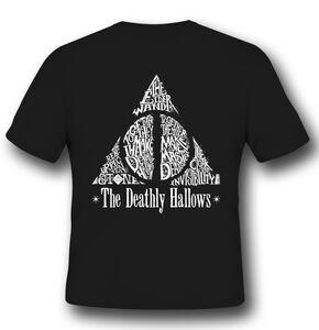Idee regalo T-Shirt Unisex Harry Potter. Deathly Hallows 2BNerd