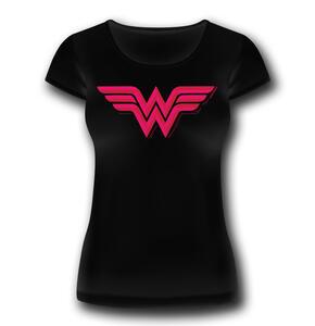 T-Shirt Donna Wonder Woman. Logo Classic