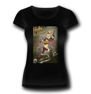 T-Shirt Donna Batman. Harley Quinn Bomb