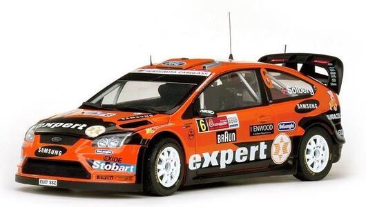 Sunstar. 3952. Veicoli in miniatura. modello per la scala. Ford Focus RS WRC 08. Rally Messico 2010. Scala 1/18