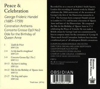 Peace & Celebrations - CD Audio di Georg Friedrich Händel - 2