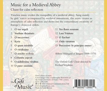 Music for a Medieval - CD Audio - 2